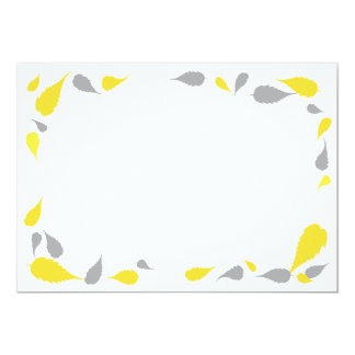 """5"""" x 7"""" Yellow & Gray Leaves Blank Card"""
