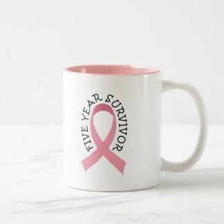 5 Year Breast Cancer Survivor Mug
