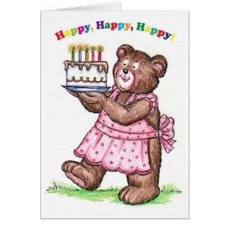 5 Year Old Birthday Greeting Card