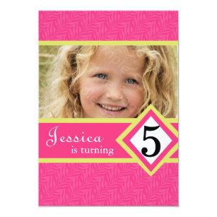5 year old birthday invitations zazzle 5 year old birthday party invitations zebra girl filmwisefo