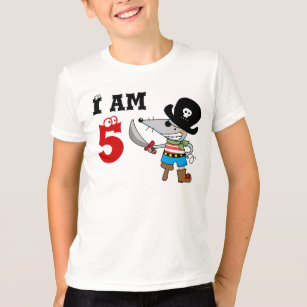 5 Year Old Pirate Birthday Boy T Shirt