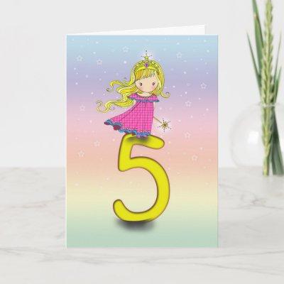 Year Old Princess Birthday Card for Girls - Zazzle.com.