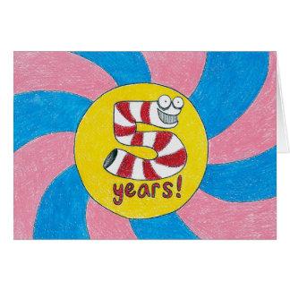 5 Years Sobriety Birthday / Anniversary Card