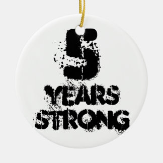 5 Years Strong Recovery Friendly Felon Support Ceramic Ornament