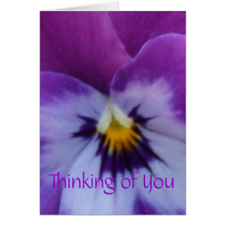 5a Lavender Purple Blue Pansy Note Card
