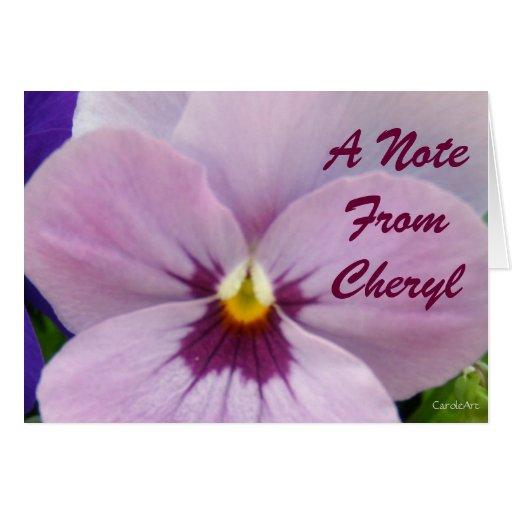 5b Pale Lavender Pansy Card