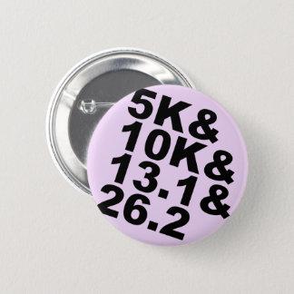 5K&10K&13.1&26.2 (blk) 6 Cm Round Badge