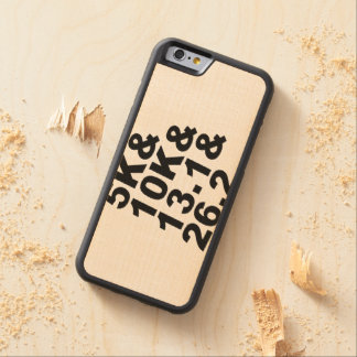 5K&10K&13.1&26.2 (blk) Carved Maple iPhone 6 Bumper Case