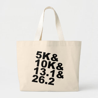 5K&10K&13.1&26.2 (blk) Large Tote Bag