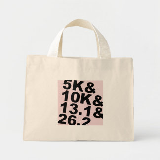 5K&10K&13.1&26.2 (blk) Mini Tote Bag