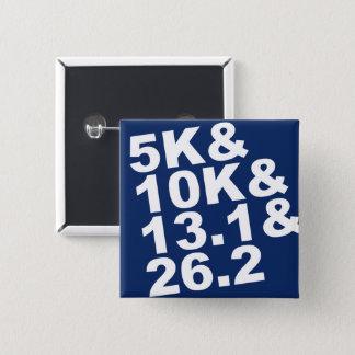 5K&10K&13.1&26.2 (wht) 15 Cm Square Badge