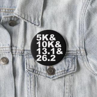 5K&10K&13.1&26.2 (wht) 7.5 Cm Round Badge