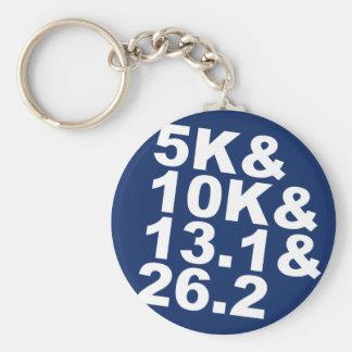 5K&10K&13.1&26.2 (wht) Key Ring
