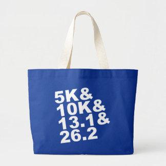 5K&10K&13.1&26.2 (wht) Large Tote Bag