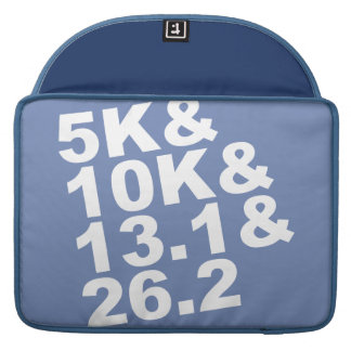 5K&10K&13.1&26.2 (wht) Sleeve For MacBook Pro