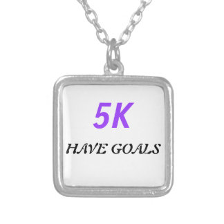 5K Have Goals Square Necklace
