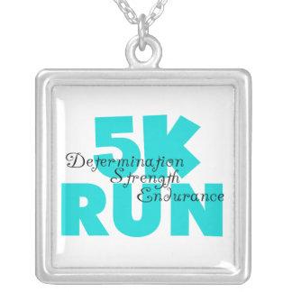 5K Run Aqua Necklace