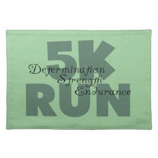 5K Run Green Sports Running Placemat