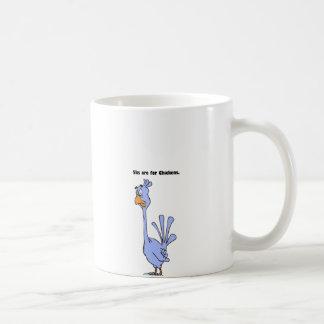 5ks are for Chickens Blue Bird Marathon Cartoon Basic White Mug