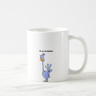 5ks are for Chickens Blue Bird Marathon Cartoon Classic White Coffee Mug