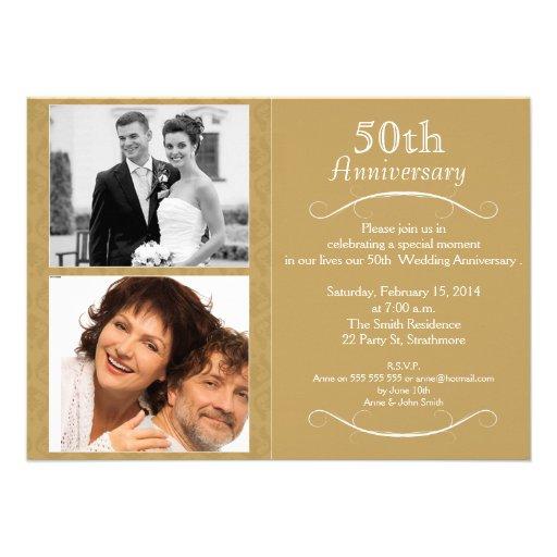 5oth wedding Anniversary Invitation