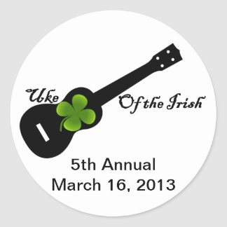 5th annual Uke Of The Irish Round Sticker