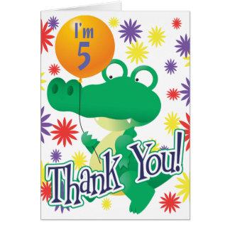 5th Birthday Alligator Card