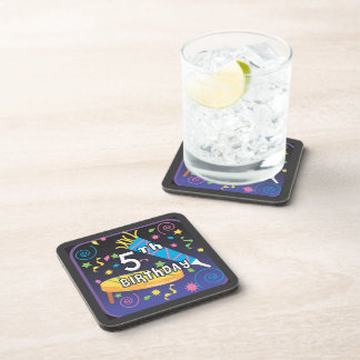 5th Birthday Beverage Coaster