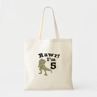 5th Birthday Dinosaur Gift for 4 Year Old Boys Tote Bag