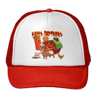 5th Birthday Farm Birthday Cap