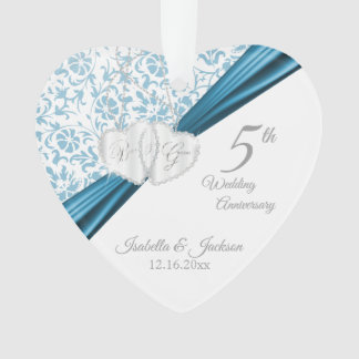 5th Blue Wedding Anniversary Ornament