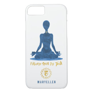 5th Chakra Throat Vishuddha Blue Affirmation iPhone 8/7 Case