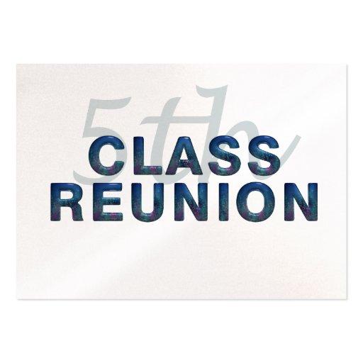 5th Class Reunion Business Card Template
