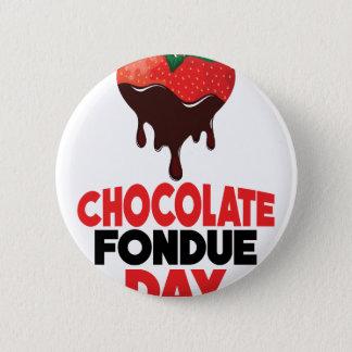 5th February - Chocolate Fondue Day 6 Cm Round Badge