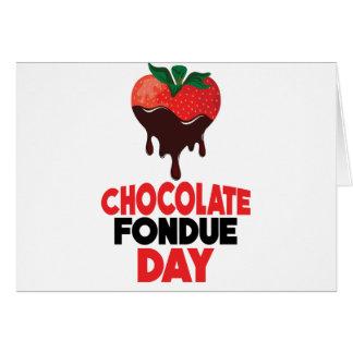 5th February - Chocolate Fondue Day Card