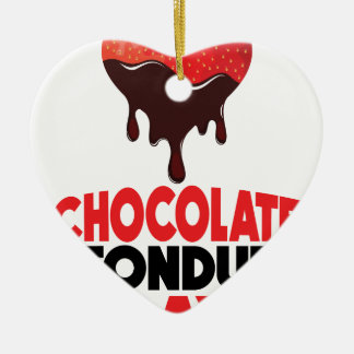 5th February - Chocolate Fondue Day Ceramic Heart Decoration