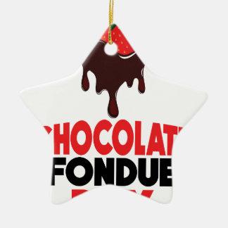 5th February - Chocolate Fondue Day Ceramic Star Decoration