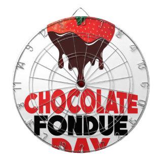 5th February - Chocolate Fondue Day Dartboard