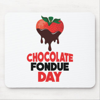 5th February - Chocolate Fondue Day Mouse Pad