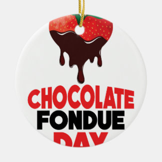 5th February - Chocolate Fondue Day Round Ceramic Decoration