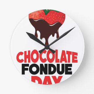 5th February - Chocolate Fondue Day Round Clock