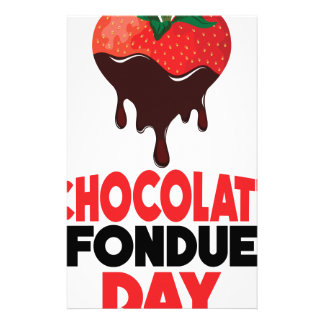 5th February - Chocolate Fondue Day Stationery
