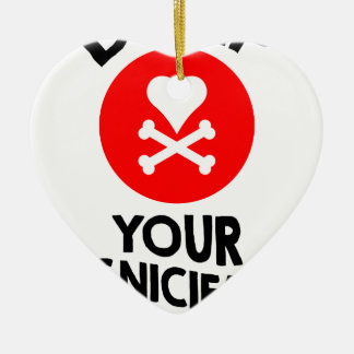 5th February - Dump Your Significant Jerk Day Ceramic Heart Decoration