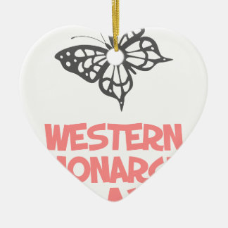 5th February - Western Monarch Day Ceramic Heart Decoration