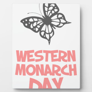 5th February - Western Monarch Day Plaque