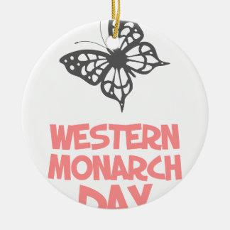 5th February - Western Monarch Day Round Ceramic Decoration