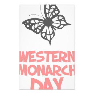 5th February - Western Monarch Day Stationery
