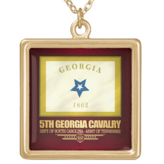5th Georgia Cavalry Gold Plated Necklace