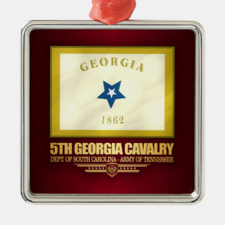 5th Georgia Cavalry Silver-Colored Square Decoration