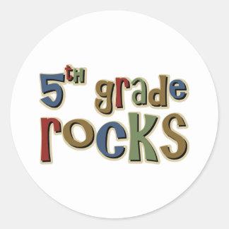 5th Grade Rocks Fifth Classic Round Sticker